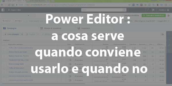 a cosa serve power editor