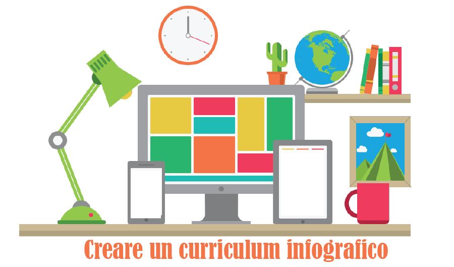 modello curriculum infografico