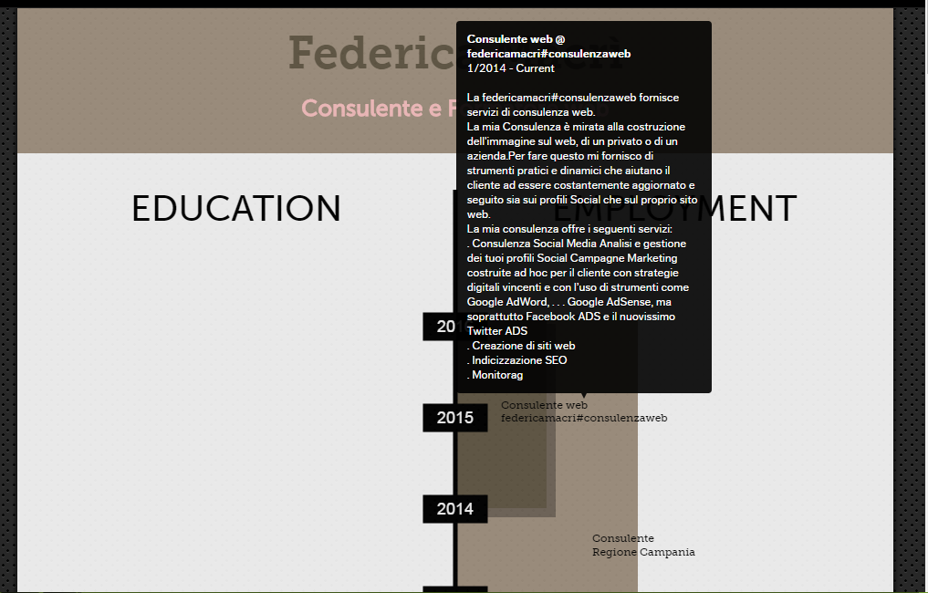 Creare un curriculum infografico