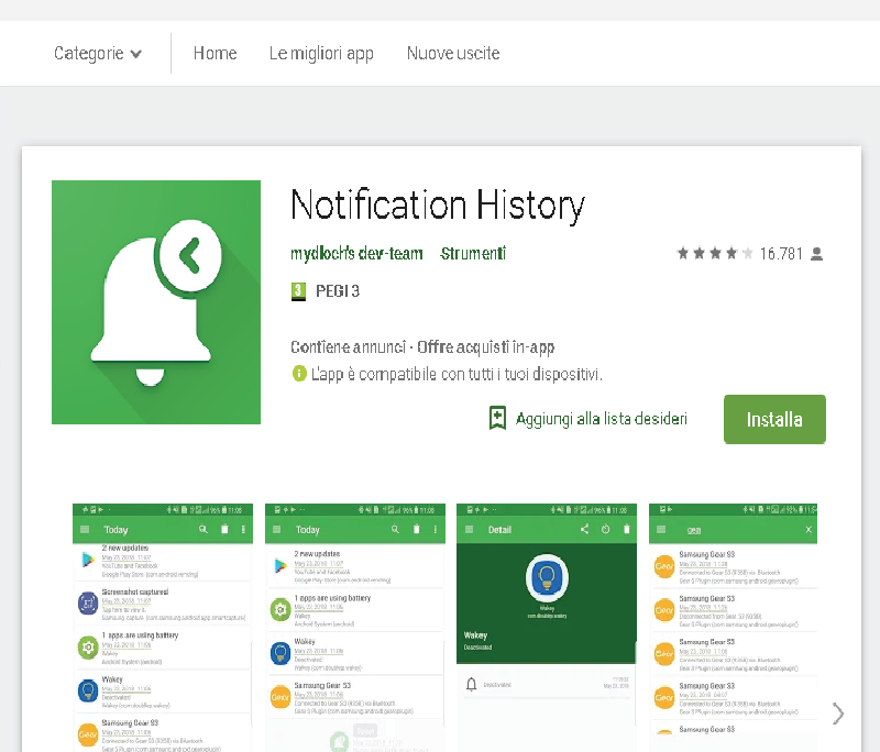 notification history